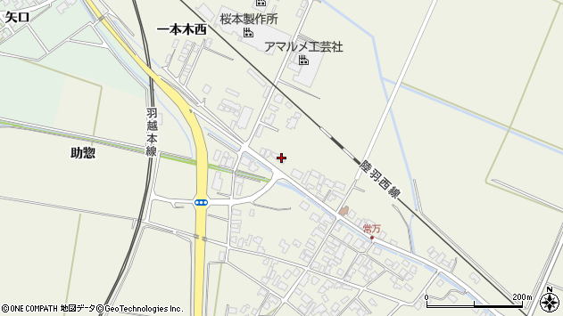 山形県東田川郡庄内町常万大乗向9周辺の地図