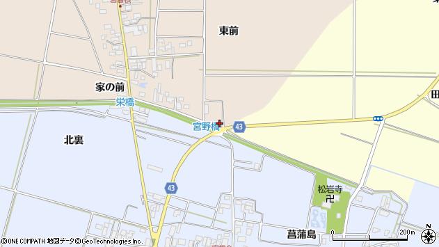 山形県東田川郡庄内町宮曽根東前5周辺の地図
