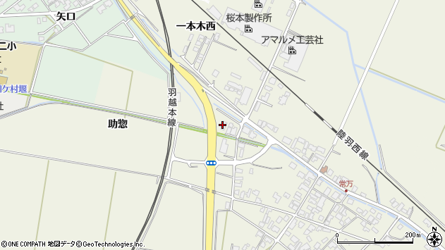 山形県東田川郡庄内町常万助惣125周辺の地図