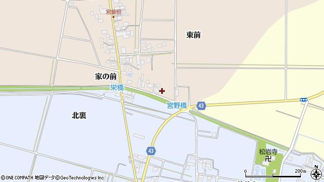 山形県東田川郡庄内町宮曽根家の前4周辺の地図