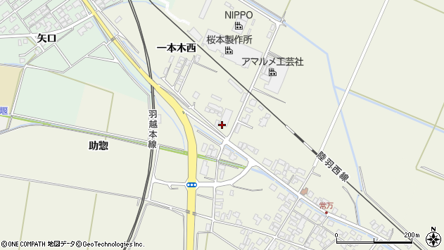 山形県東田川郡庄内町常万一本木西1周辺の地図