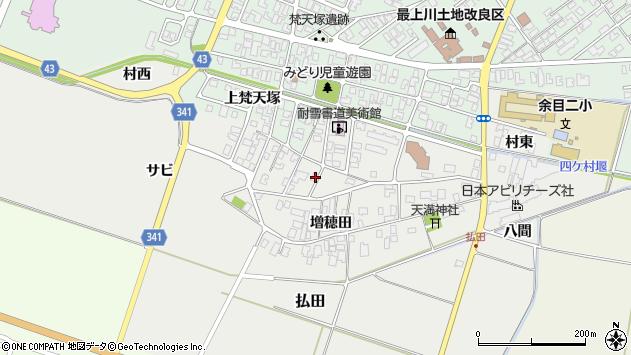 山形県東田川郡庄内町払田サビ59周辺の地図