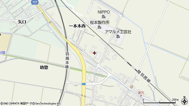 山形県東田川郡庄内町常万一本木西4周辺の地図
