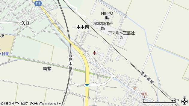 山形県東田川郡庄内町常万一本木西6周辺の地図