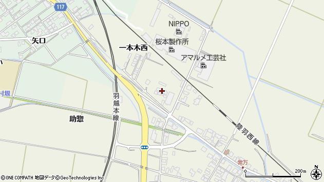 山形県東田川郡庄内町常万一本木西13周辺の地図