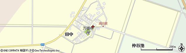 山形県東田川郡庄内町高田麦田中周辺の地図