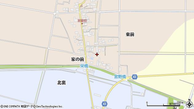 山形県東田川郡庄内町宮曽根東前62周辺の地図