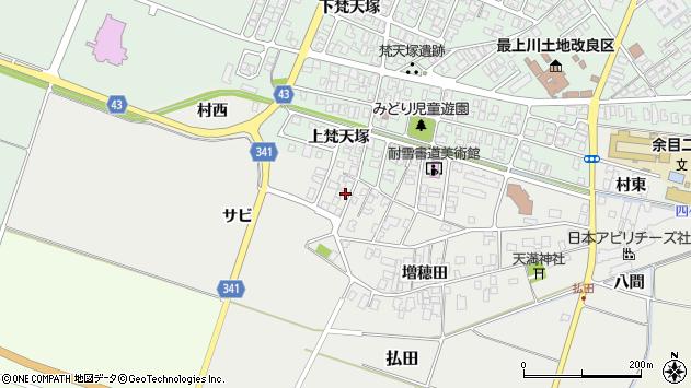 山形県東田川郡庄内町払田サビ84周辺の地図