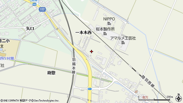 山形県東田川郡庄内町常万一本木西12周辺の地図