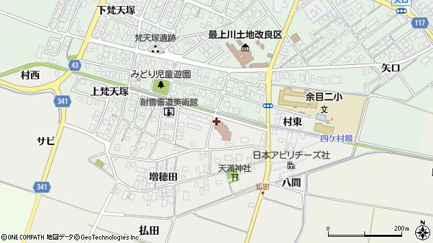 山形県東田川郡庄内町払田緑町周辺の地図
