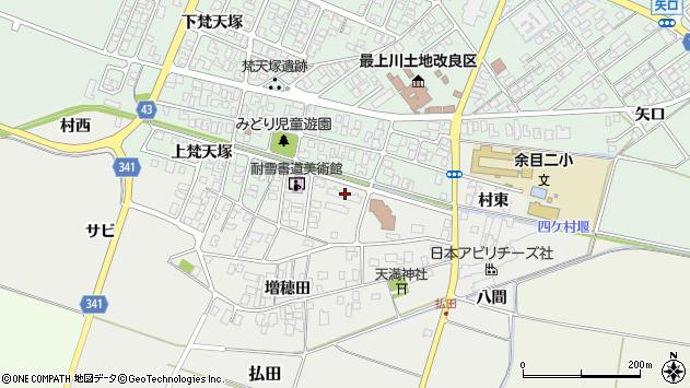山形県東田川郡庄内町払田サビ47周辺の地図