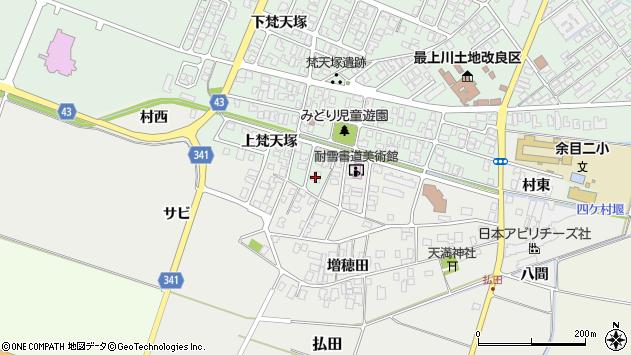 山形県東田川郡庄内町余目上梵天塚104周辺の地図