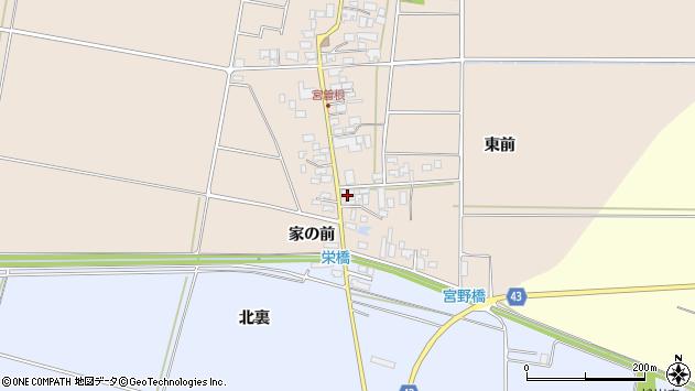 山形県東田川郡庄内町宮曽根宮の前9周辺の地図