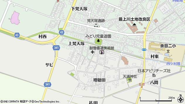 山形県東田川郡庄内町余目上梵天塚105周辺の地図