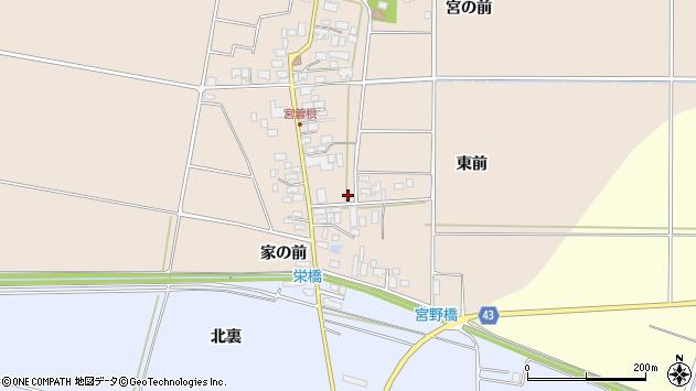 山形県東田川郡庄内町宮曽根宮の前1周辺の地図