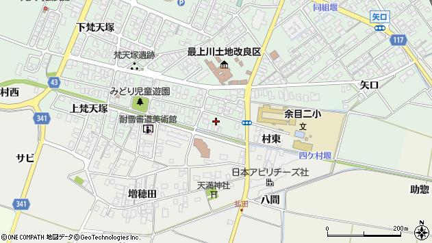 山形県東田川郡庄内町余目梵天塚52周辺の地図