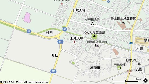 山形県東田川郡庄内町余目上梵天塚67周辺の地図