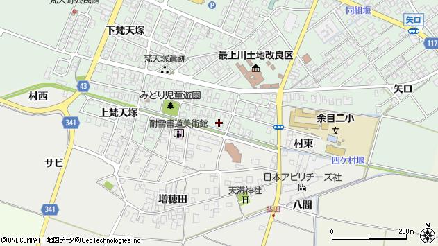 山形県東田川郡庄内町余目梵天塚92周辺の地図