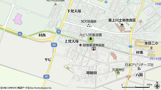 山形県東田川郡庄内町余目上梵天塚85周辺の地図