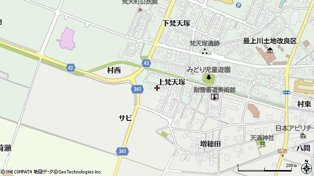 山形県東田川郡庄内町余目上梵天塚96周辺の地図