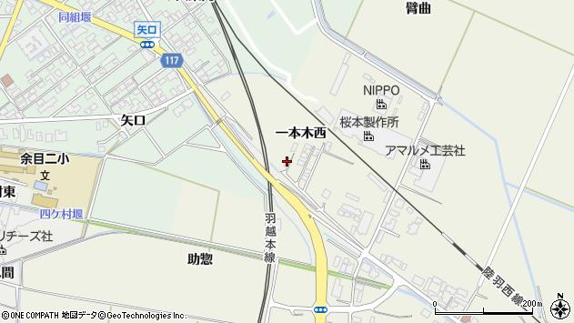 山形県東田川郡庄内町常万一本木西42周辺の地図