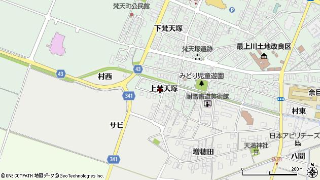山形県東田川郡庄内町余目上梵天塚90周辺の地図