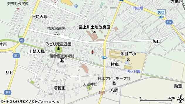 山形県東田川郡庄内町余目梵天塚32周辺の地図