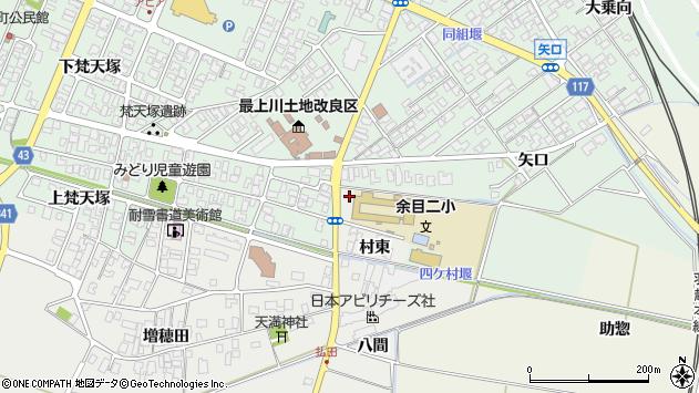 山形県東田川郡庄内町払田村東70周辺の地図
