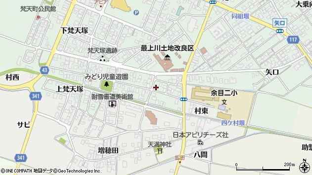 山形県東田川郡庄内町余目梵天塚36周辺の地図