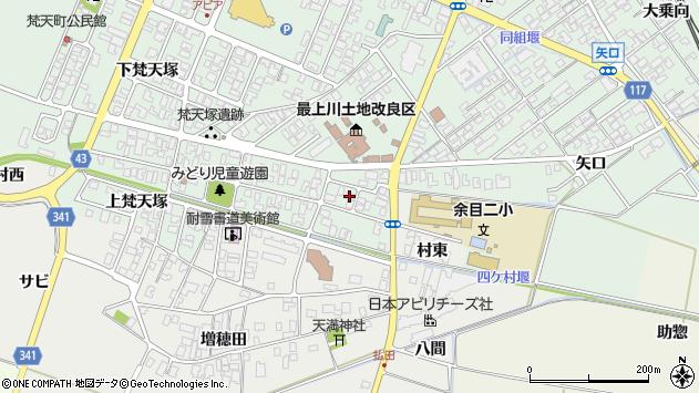 山形県東田川郡庄内町余目梵天塚30周辺の地図