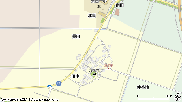 山形県東田川郡庄内町高田麦田中11周辺の地図