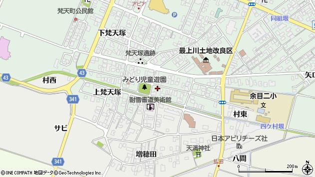 山形県東田川郡庄内町余目梵天塚107周辺の地図