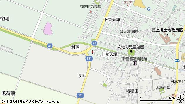山形県東田川郡庄内町余目上梵天塚95周辺の地図