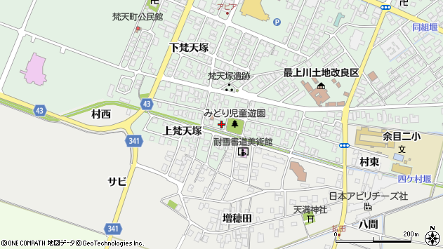 山形県東田川郡庄内町余目梵天塚130周辺の地図