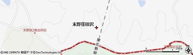 宮城県栗原市金成末野窪田沢周辺の地図