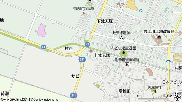 山形県東田川郡庄内町余目上梵天塚125周辺の地図