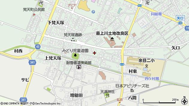 山形県東田川郡庄内町余目梵天塚68周辺の地図