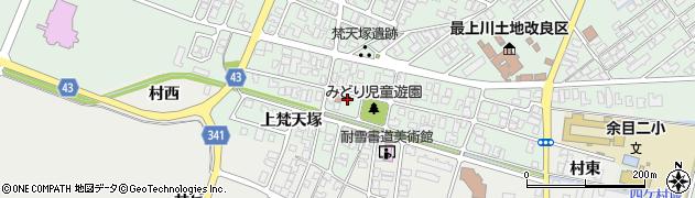 山形県東田川郡庄内町余目梵天塚132周辺の地図