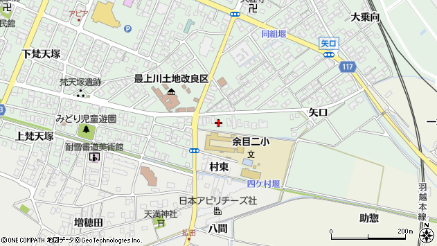 山形県東田川郡庄内町余目矢口51周辺の地図