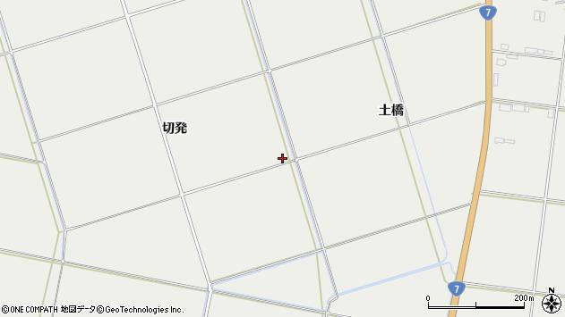 山形県酒田市広野切発周辺の地図