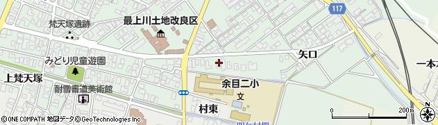 山形県東田川郡庄内町余目矢口52周辺の地図