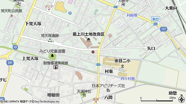 山形県東田川郡庄内町余目梵天塚3周辺の地図