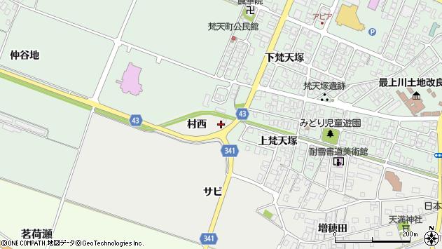 山形県東田川郡庄内町払田村西7周辺の地図