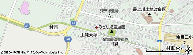 山形県東田川郡庄内町余目梵天塚165周辺の地図