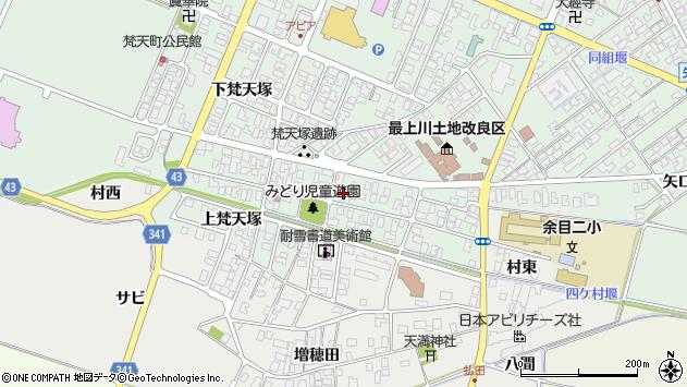 山形県東田川郡庄内町余目梵天塚82周辺の地図
