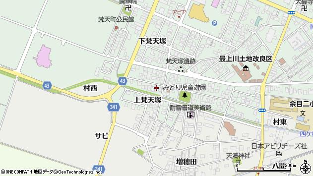 山形県東田川郡庄内町余目梵天塚166周辺の地図