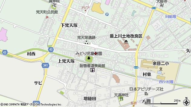 山形県東田川郡庄内町余目梵天塚86周辺の地図