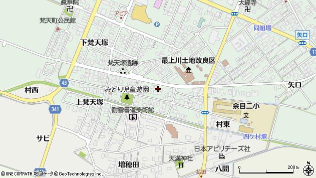 山形県東田川郡庄内町余目梵天塚69周辺の地図