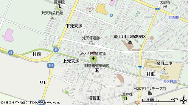 山形県東田川郡庄内町余目梵天塚115周辺の地図