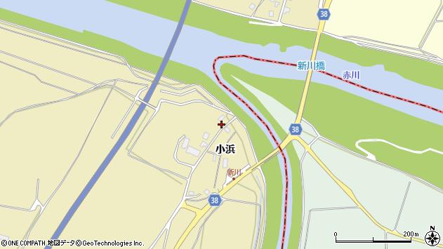 山形県酒田市浜中小浜80周辺の地図
